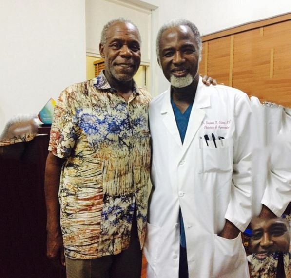 Danny Glover and Dr. Benjamin Ohiaeri